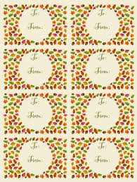 Autumn Leaf Themed To From Gift Tag Labels Label