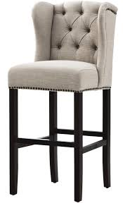 Gorgeous upholstered bar stools in the kitchen add the right amount of  elegance. HomeDecorators.