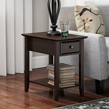architecture end tables with storage intended for hadley table reviews birch lane prepare 5 comfortable folding