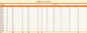 Weight Loss Tracking Spreadsheet Tracking Weight Rome Fontanacountryinn Com
