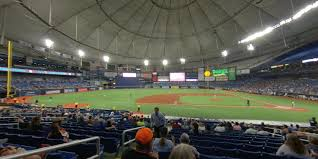 Tropicana Field Seating Chart With Rows Tropicana Field Section 117 Tampa Bay Rays Rateyourseats Com