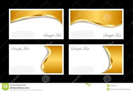 cards templates gold business cards templates stock vector illustration of card