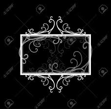 Blank Boxes To Decorate Blank Black Text Box Or Sign Vector With White Fancy Frame Border 48