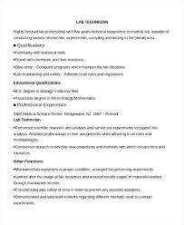 Tech Resume Examples Beauteous Medical Laboratory Technician Resume Sample Clinical Template