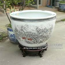 indoor large plant pots retail big completely weatherproof porcelain ceramic fish pot and garden planter pot