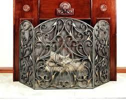 black wrought iron fireplace screen indoor accessories for great doors custom firep