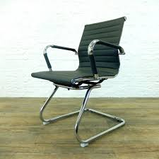 eames ribbed chair tan office. Chair Eames Style Office No Arms Ribbed Faux Leather Grey Red Brown Review Metro White Tan L