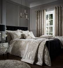 catherine lansfield crushed velvet duvet cover set natural super king