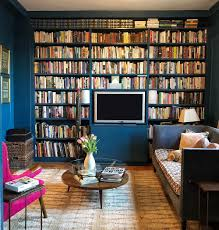eclectic home office alison. Alison Kist Interiors NYC Library Den.jpg Eclectic Home Office