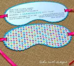 Best Of Avery Party Invitation Templates For Eye Mask Invitation