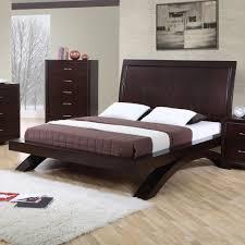 Platform Bedroom Furniture Elements International Raven King Contemporary Platform Bed