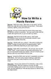 How To Write A Movie Review How To Write A Movie Review This Is A Guide For