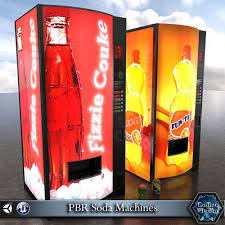 Soda Vending Machines Beauteous PBR Soda Vending Machines 48D Model CGTrader