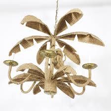 woven torres palm tree monkey chandelier