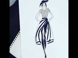How To Draw A Fashion Illustration Draw A Dress Fashion Design Drawing