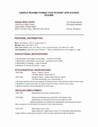 College Application Resume Template New Resume Application Form