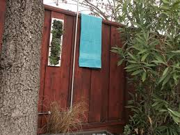 let nature in with an outdoor shower