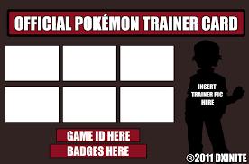 pokemon trainer id card template