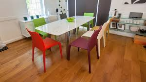 extending white high gloss dining set seats 8 colourful faux
