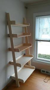 bookcases diy ladder bookcase white pottery barn studio leaning shelf projects pottery barn studio leaning