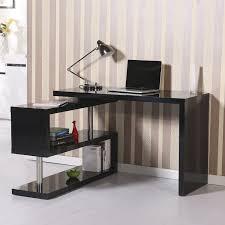 office desk shelf. HomCom Rotating Office Desk And Shelf Combo \u2013 Black O