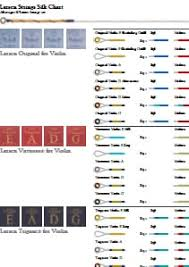 Dominant Violin String Color Chart Downloads Caswells Strings