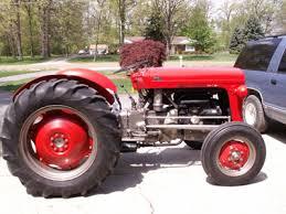 massey ferguson 35 hydraulics vintage tractor engineer mf35 red wheels