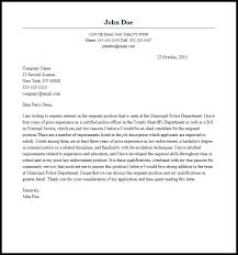 Sample Police Officer Cover Letter Cover Letter Police Officer Cover