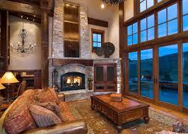 Decoration Ideas Cool Lodge Living Room Decor With Black Velvet L Lodge Room Designs