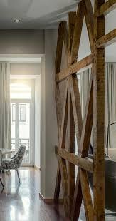 Raumtrenner Aus Holz Balken Rustikal Akzent Modern Wohnung Wohnen