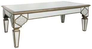 3 morocco antique mirrored coffee table