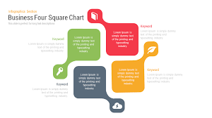 Four Square Chart Template Business Four Square Powerpoint Template And Keynote Slide