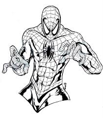 Peter parker and a boy. Free Printable Spiderman Coloring Pages For Kids