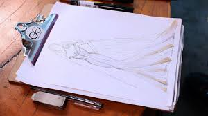 Sketching Clothing How To Draw A Wedding Dress Fashion Sketching Youtube