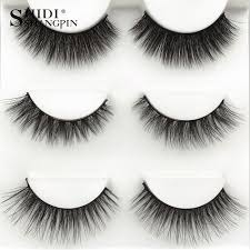 Generic <b>SHIDISHANGPIN</b> 3 <b>Pairs Mink</b> Eyelashes 3D False Lashes ...