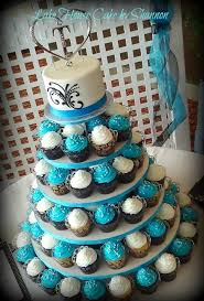 best 25 cupcake towers ideas on pinterest wedding cupcake Wedding Cupcakes Kent Uk turquoise wedding cake cupcake tower, cupcakes, scroll work, black, sugar pearls, Kent United Kingdom Map