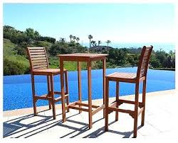 outdoor bistro tables and chairs cool tall outdoor bistro table outdoor bar dining set table chair wood eucalyptus pub height tall