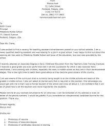Teacher Assistant Cover Letter Samples Teaching Assistant Cover Letter Sample Under Fontanacountryinn Com