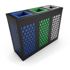 Designer Trash Receptacles Neso Green Recycle Bins Commercial Trash Receptacles