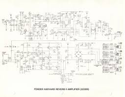 schematics for fender ii series rivera era solid state amps schematic