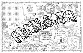 Small Picture Gallopade International Minnesota Symbols Facts FunSheet Pack