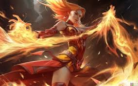 wallpaper lina dota 2 girl dota fire art images for desktop