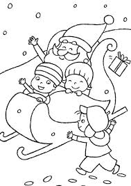 Small Picture Kids Playing With Santa Claus Coloring Pages Christmas Coloring