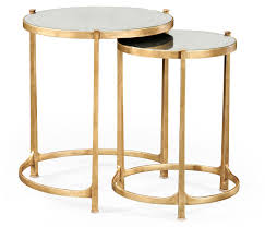 elegant 28 tall antiqued mirrored nesting tables antiqued gold gilt partner side end accent console coffee tables available hospitality