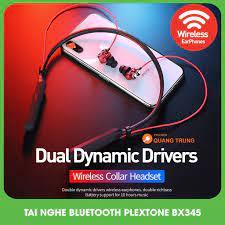Tai nghe bluetooth plextone Bx345 dual driver cực mạnh,cực hay