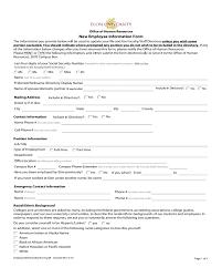 2019 General Employee Information Form Fillable Printable Pdf