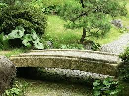 antique japanese stone bridge