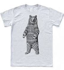 навахо медведь эскиз футболки инди старинные тройник татуировки хной ретро