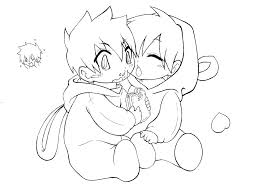 Chibi Naruto Coloring Pages Cute Anime Couple Coloring Pages A