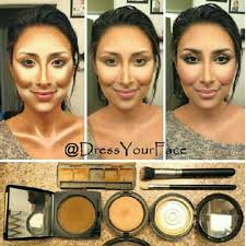highlighting contouring the application is a little more than i would nor